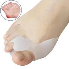 2x Silikon Zehenspreizer Fußbandage Reibungsschutz Ballenschutz Hallux Valgus