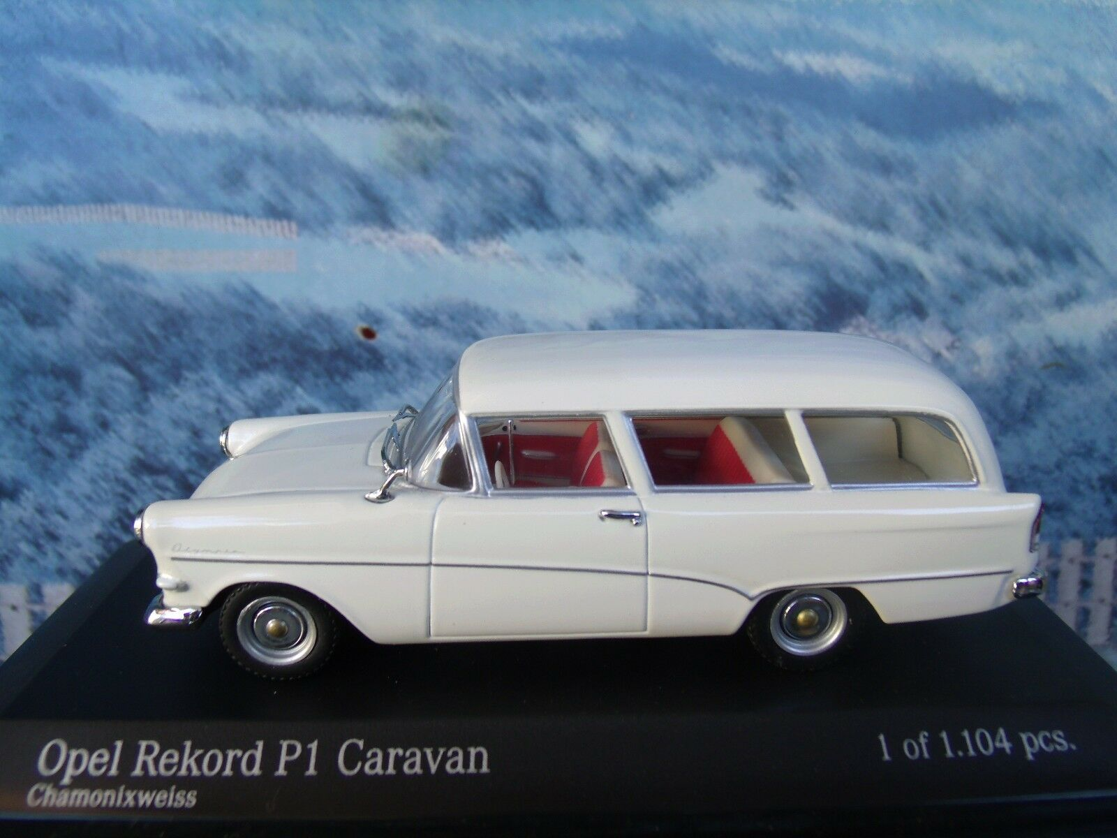 1 43  Minichamps Opel Record P1 Caravan 1958-60  1 of 1104