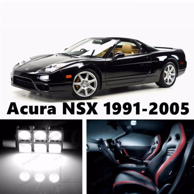 9pcs Xenon White LED Light Interior Package Kit For Acura