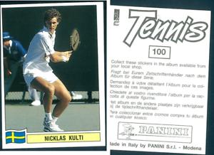 Nicklas-Kulti-SWE-Tennis-1992-Edizioni-Panini-MINT-n-100