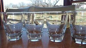 Flat Juice Glasses Starglow by LIBBEY GLASS COMPANY 4 6 oz vintage glasses EUC