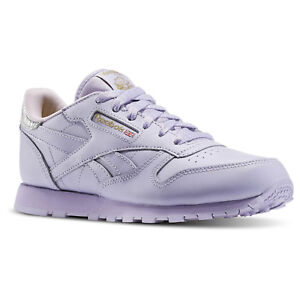 57808db2d7752 Image is loading Reebok-Girl-039-s-Classic-Leather-Metallic-Lavender-