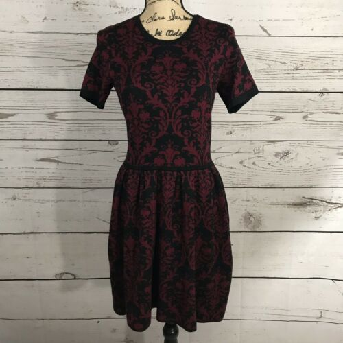 Romeo & Juliet Couture Knit Dress Size M Black And