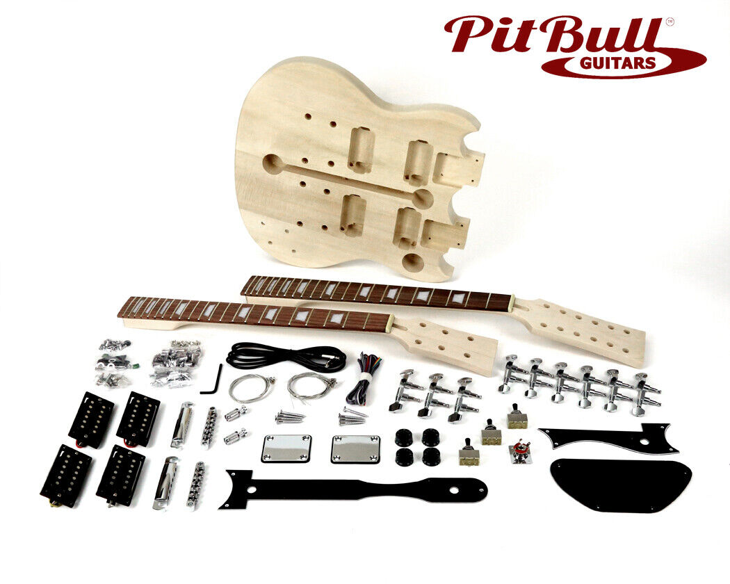 Pit Bull Guitars AGD-612 Electric Guitar Kit (Double Neck)