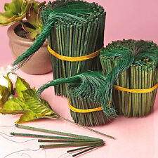 """50ct. 2-1/2"""" Green Wooden Wired PICKS Florist Wood Stakes Floral Bows Crafts"""