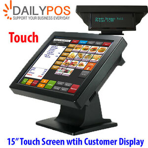 New-15-034-Touchscreen-LCD-Monitor-POS-Touch-Screen-w-Customer-display-for-POS
