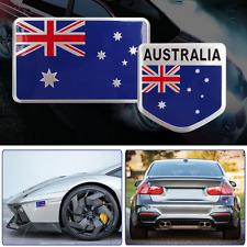 ALUMINUM Australia Flag Emblem Sticker 3D Decal COMBO PACK For Auto, Car, Truck