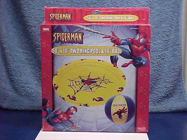 MARVEL COMICS SPIDER-MAN SWIMMING POOL + BONUS BALL UNUSED BOXED