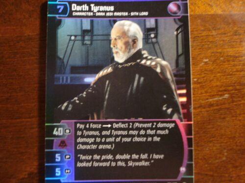 H FOIL 82//110 Star Wars TCG ROTS Darth Tyranus