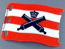 LEGO - Plastic Flag 7 x 4 with Crossed Cannons over Red Stripes Pattern - RARE
