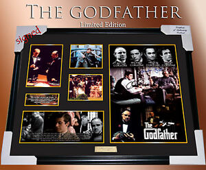 NEW-034-THE-GODFATHER-034-MEMORABILIA-SIGNED-FRAMED-LIMITED-EDITION-499-w-C-O-A