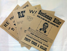 5 Old West Wanted Posters Outlaw Billy the Kid Jesse James Daltons Hardin KRAFT