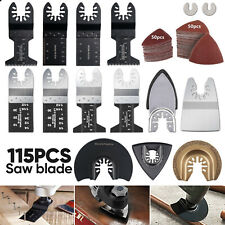 115pcs Oscillating Saw Blades For Bosch Ridgid Dewalt Makita Ryobi Multi Tool Us