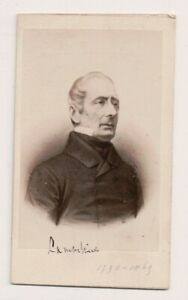 Vintage-CDV-Alphonse-de-Lamartine-French-Poet-amp-Writer-E-Neurdein-Photo