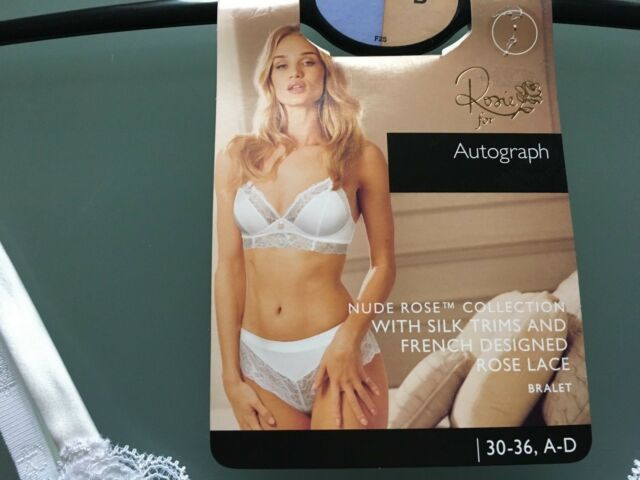 3bb7bbee5d189 M S ROSIE FOR AUTOGRAPH SIZE 30B WHITE NUDE ROSE BRALET BRA FREE POSTAGE