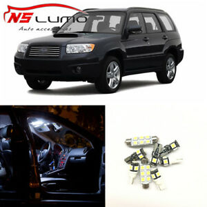 8-x-White-Car-LED-Light-Bulbs-Interior-Package-Kit-For-2003-2008-Subaru-Forester