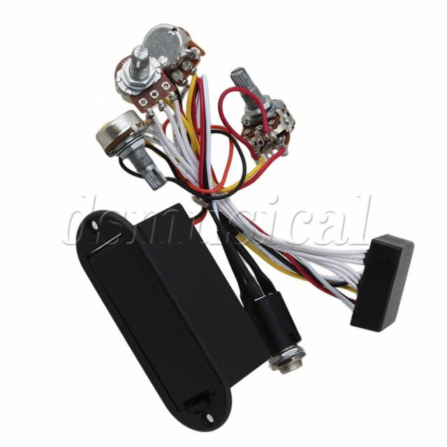 2 Band Active EQ Preamp Circuit for Bass Pickup Black   eBay
