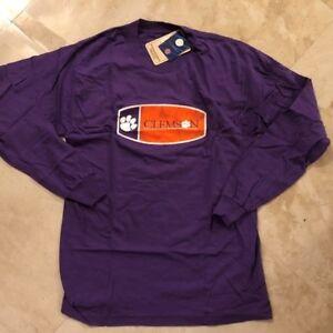 Clemson University Tigers Long Sleeve T Shirt Small Medium Purple