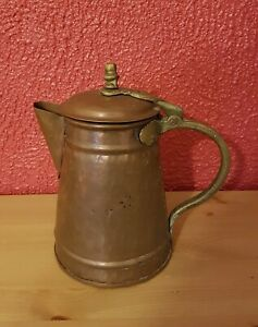 Große Kanne Oder Krug aus Kupfer - Ära 19eme Jahrhundert