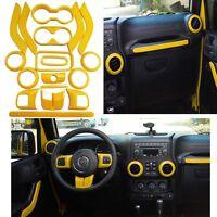 Yellow Auto Accessories Interior Trim For Jeep Wrangler Abs Decorative Cover L