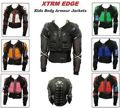 Blue, 12 Kids Childrens Body Armour Motocross Motorbike Motorcyle Protection Jacket Motorcycle Body Guard CE Approved Mountain Cycling