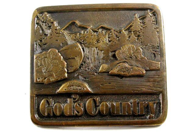 1976 Gods Country Fibbia Della Cintura 6914 Firmato Adezy
