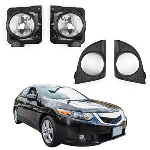 LH-RH-Foglight-Fog-Light-Lamp-Cover-Metal-Without-Bulbs-For-Acura-TSX-2009-2010