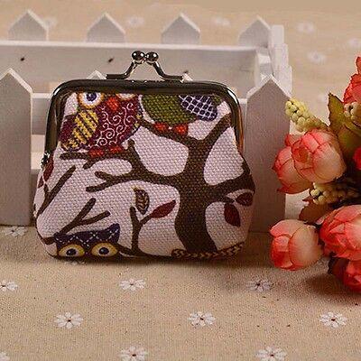 Fashion Owl Design Coin Money Bag Purse Canvas Wallet For Women Girl Lady