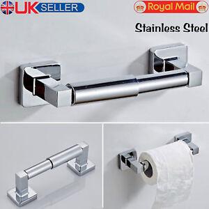 Square-Polished-Shine-Chrome-Finish-Wall-Mounted-Bathroom-Bar-Toilet-Roll-Holder