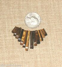NEW~Genuine TIGER EYE 13 PC Set Fan Cleopatra Pendant Necklace Beads