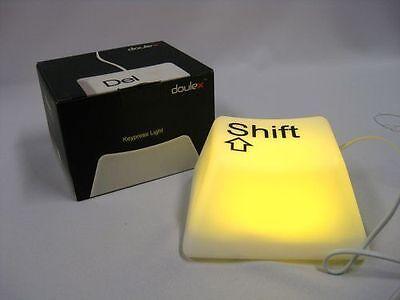 COOL 'SHIFT' KEY KEYPRESS LAMP DOULEX TOUCH NIGHT BEDSIDE DESK LED NOVELTY LIGHT