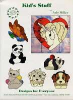 Kid's Stuff Stained Glass Pattern Book Judy Miller