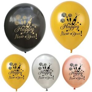 10Pcs Happy New Year Latex Balloon Christmas New Year ...