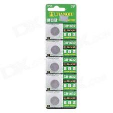 Confezione 5 Batteria Pila CR1632 Bottone Tonda Litio 3V hsb