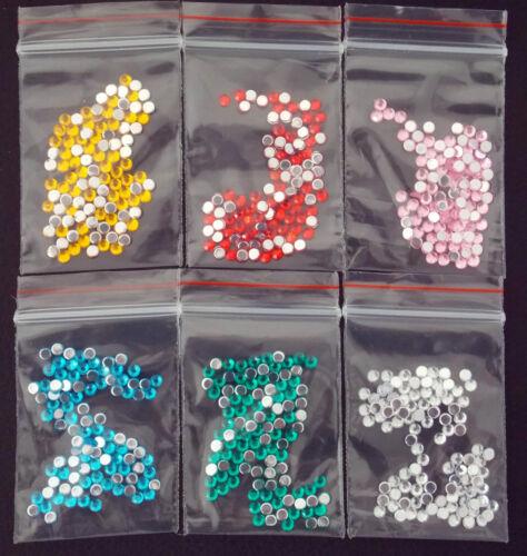 Schmucksteine// Glitzersteine rund 3 mm verschiedene Farben zur Auswahl