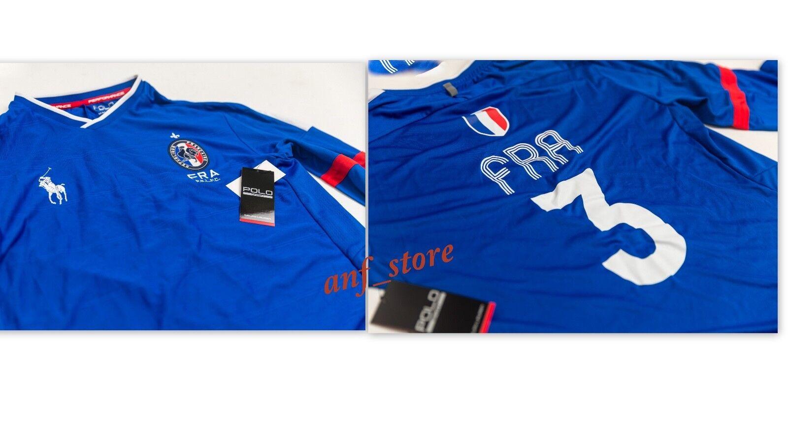 c3de7a1f NWT Ralph Lauren Polo RLX Performance FRANCE Mens L S Shirt L LARGE Soccer  norawv795-Casual Shirts & Tops