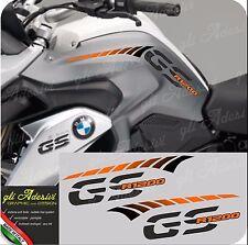 Kit Adesivi Fianco Serbatoio Moto BMW R 1200 gs LC stripes racing ORANGE