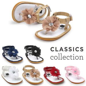 607b868010b Image is loading Girls-Infant-Baby-Flower-Pearl-Sandals-Toddler-Princess-