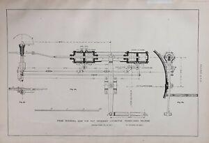1886-RAILWAY-LOCOMOTIVE-PRINT-STEAM-REVERSING-GEAR-FAST-PASSENGER-CYLINDERS