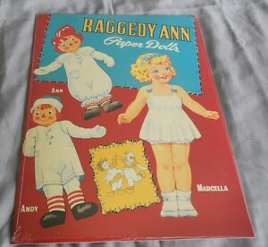 Raggedy Ann Andy and Marcella Paper Dolls Shackman & co 1995 Uncut