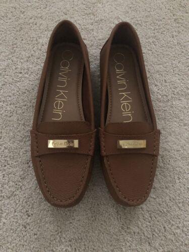 Taille Lavida Femme 8 Loafer Calvin Cuir Nouveau Mocassin Brun 5 Klein wFq8nngxS