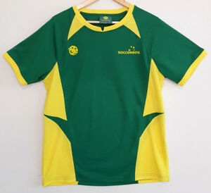 SOCCEROOS-Australia-Green-amp-Yellow-Football-Soccer-Supporter-TShirt-Size-L