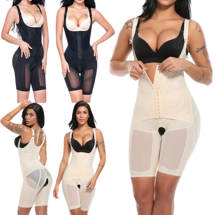 1ce91a647 Women s Full Body Shaper Waist Cincher Underbust Corset Bodysuit Shapewear  US