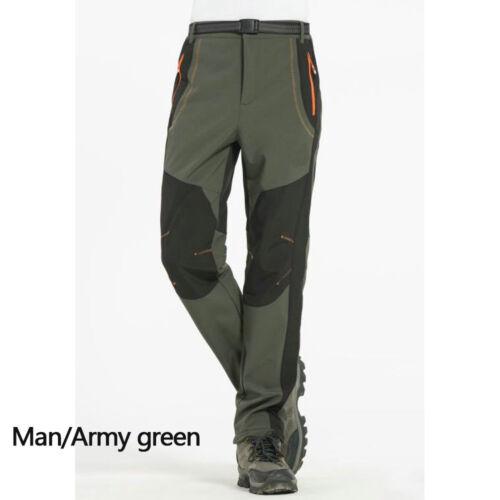 Winter Hiking Fleece Softshell Pants Men And Women Outdoor Trousers Waterproof