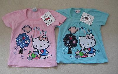 BNWT Hello Kitty Licensed Tshirt 2 3 4 years applique transfer