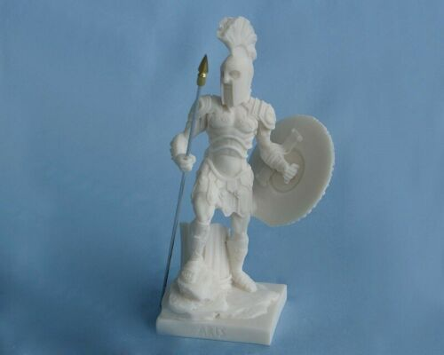 Maska 5-693W Ares 22 cm Alabaster Weiss Serie Götter