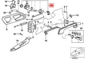genuine bmw e32 e34 door lock cylinder left repair kit oem BMW Parts Diagram Door image is loading genuine bmw e32 e34 door lock cylinder left