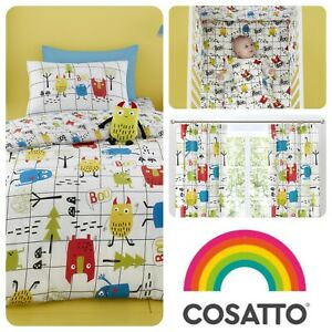 Cosatto-MONSTER-MOB-Baby-Toddler-Bedroom-Set-Duvet-Cover-Set-Curtains-amp-More