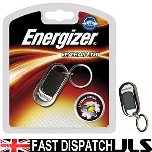 Porte Clé Energizer Led De Haute Technologie Lumineux Porte-clé Torche Light Key Fob Anneau Chrome-afficher Le Titre D'origine