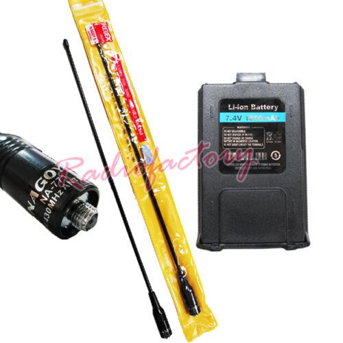 2-055 1800mah Battery For BAOFENG UV-5R NAGOYA NA-771 SF Antenna
